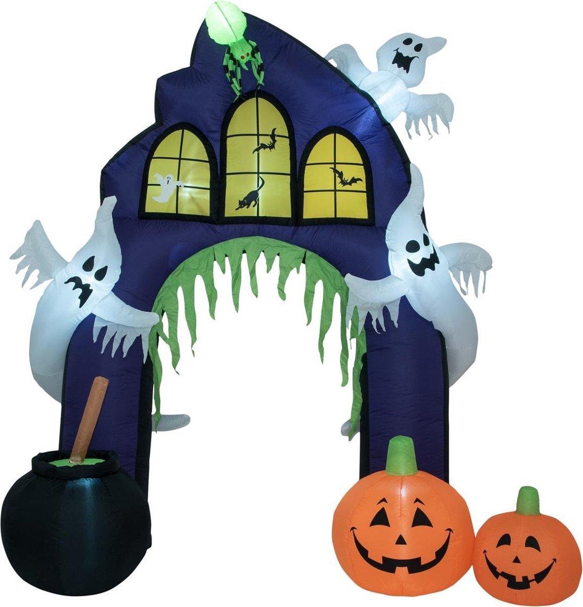 Halloween Decoratie Voor Buiten.Bol Com Europalms Halloween Versiering Met Licht Opblaasbaar Decoratie Haunted House