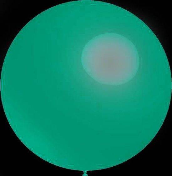 3 stuks Mega grote turquoise ballonnen 90 cm