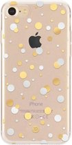 XQISIT Shell Dots for iPhone 7/8/SE 2G clear/gold col./silver col.