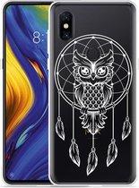 Xiaomi Mi Mix 3 Hoesje Dream Owl Mandala White