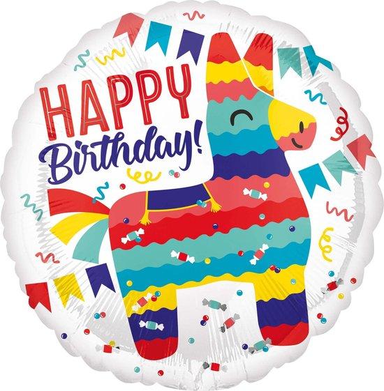 AMSCAN - Aluminium Happy Birthday lama ballon - Decoratie > Ballonnen