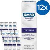 Oral-B 3D White Luxe Perfection - Voordeelverpakking 12x75 ml - Tandpasta