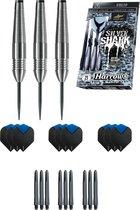 Harrows - Silver Shark 24 gram - dartpijlen - met - cadeauset - dartshafts - dartflights