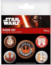 STAR WARS 7 - Pack 5 Badges - First Order