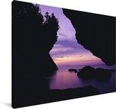 Nationaal park Bruce Peninsula in Canada bij zonsondergang Canvas 30x20 cm - klein - Foto print op Canvas schilderij (Wanddecoratie woonkamer / slaapkamer)