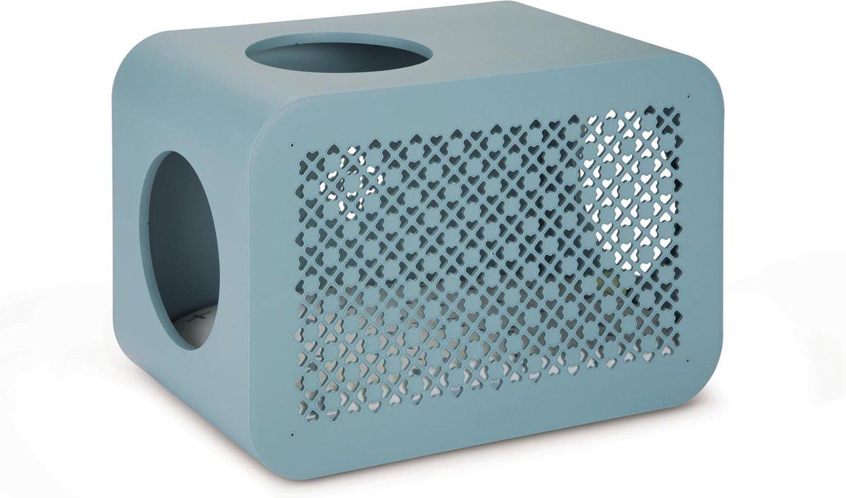 Beeztees Cat Cube Sleep Kattenmand - 49 x 29 x 32,6 cm - Steenblauw - Beeztees