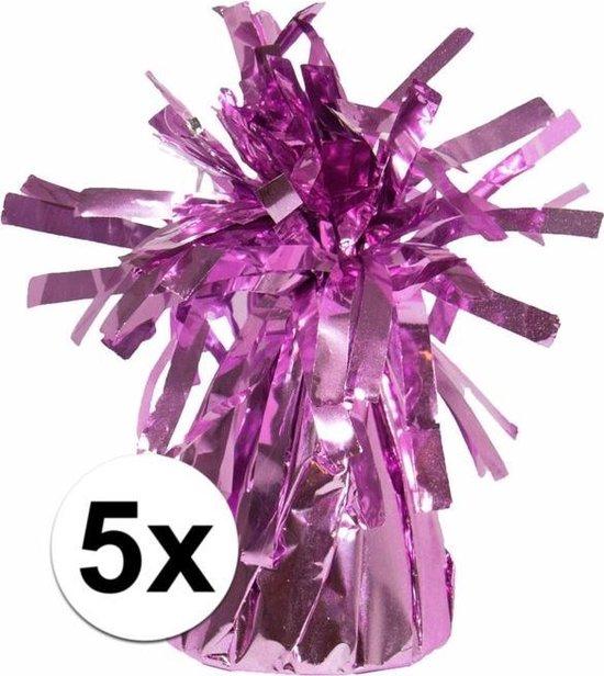 5 Ballongewichten roze 170 gr