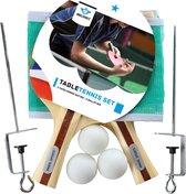 Angel Sports - Tafeltennis set 1 ster met netpost en ballen