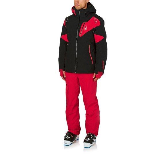Spyder Heren Leader Ski Jas Rood Zwart Maat S www