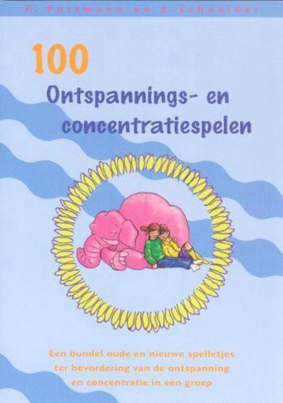 Cover van het boek '100 ontspannings- en concentratiespelen / druk 1' van Elisabeth Schneider en Rosemarie Portmann