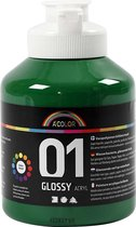 A-color Glossy acrylverf, donkergroen, 01 - glossy, 500 ml