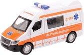 Johntoy Super Cars Ambulance Met Licht En Geluid 1:32 Wit