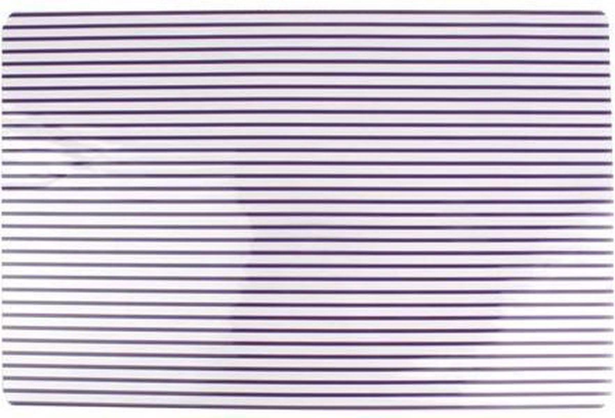 Yong Stripes Placemat - set van 4 -45 x 30 cm - Paars - Yong