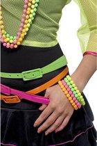 4 Kralen armbanden neon kleuren