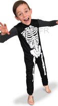 RUBIES FRANCE - Klassiek zwart en wit skelet pak voor kinderen - 110/116 (5-6 jaar) - Kinderkostuums