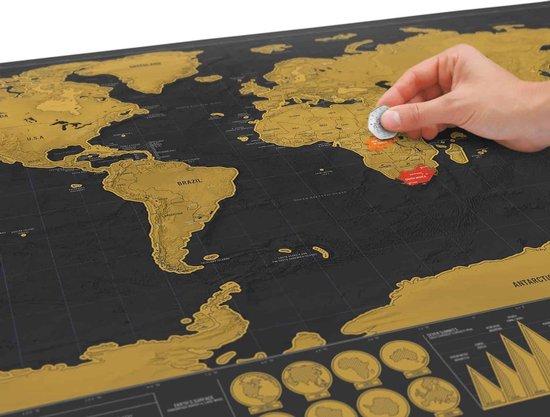Luckies Kras Wereldkaart - Scratch Map Deluxe
