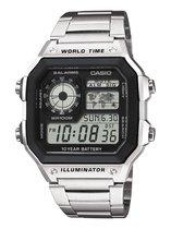 Casio AE-1200WHD-1AVEF - Horloge - 42 mm - Staal - Zilverkleurig