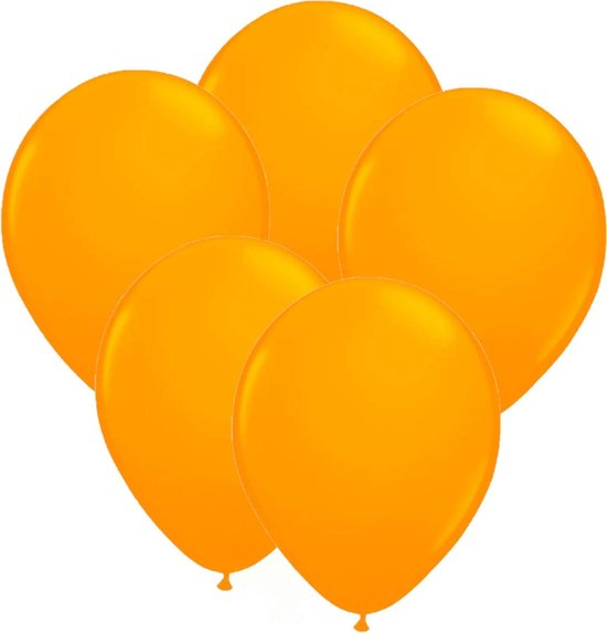 24x stuks Neon fel oranje latex ballonnen 25 cm - Feestversiering/feestartikelen