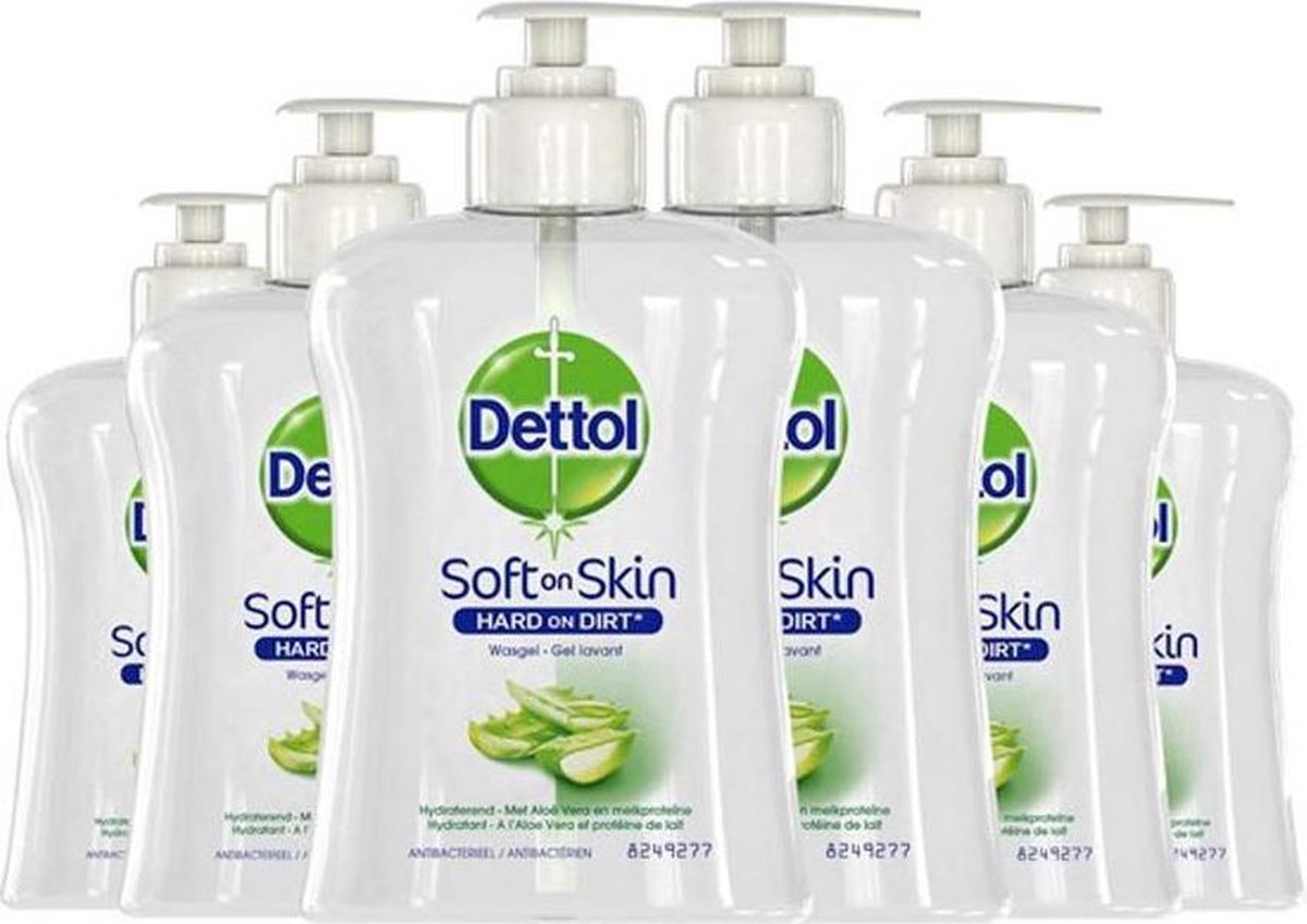 Dettol Handzeep - Antibacterieel - Verzachtend - Alo  Vera - 6 x 250 ml