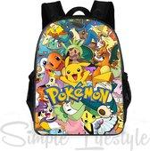Pokemon Rugtas - Kinderrugzak Schooltas Rugzak laptoptas - 16 liter - 3 ritsvakken