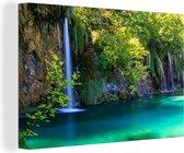 Nationaal park Plitvicemeren in Kroatië Canvas 120x80 cm - Foto print op Canvas schilderij (Wanddecoratie woonkamer / slaapkamer)
