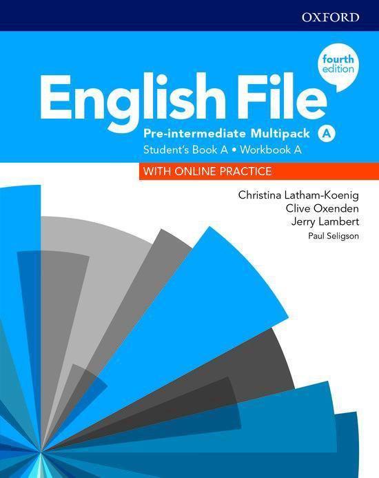 Boek cover English File - Pre-Int (fourth edition) Students book multi van Christina Latham-Koenig (Onbekend)