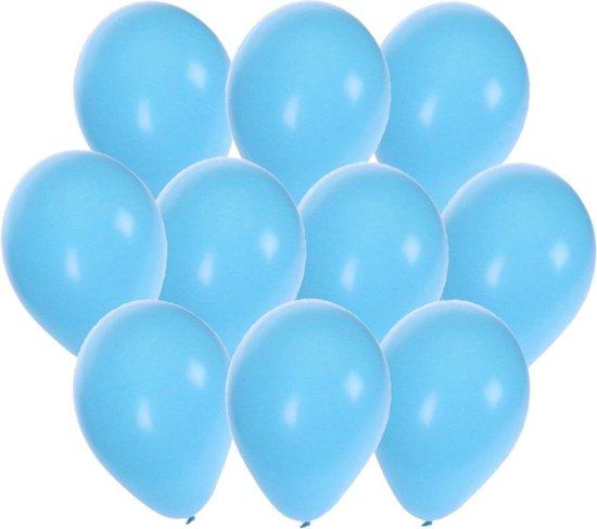 Lichtblauwe party ballonnen 30x stuks 27 cm - Feestartikelen/versiering
