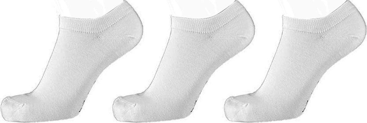 Bamboe sokken sneaker 3 paar - Wit - Bamboe Sokken Heren Sokken Dames - Maat 39/42
