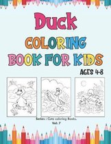 Duck Coloring Book for Kids Ages 4-8