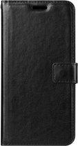 LG Q7 - Bookcase Zwart - portemonee hoesje
