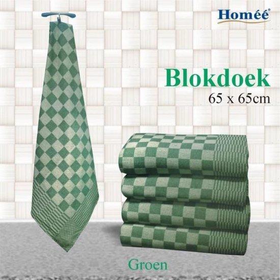 Theedoek blok Groen 65x65 (per 6 stuks)