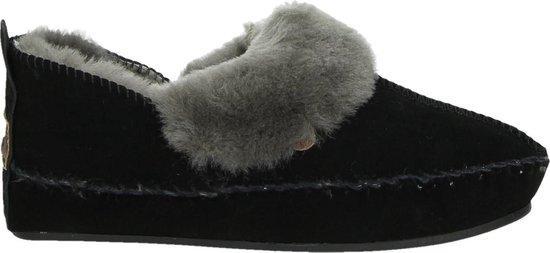 Warmbat Dames Pantoffels Polarfox Women Suede - Zwart - Maat 40