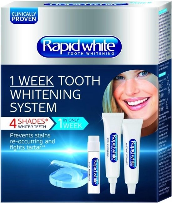 Rapid White 1 week whitening systeem - 5 delig - Whitening kit