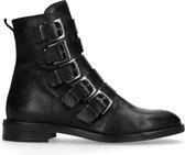 Sacha - Dames - Zwarte biker boots met gespen - Maat 40