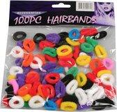 Haarelastiekjes 100 stuks in verschillende kleuren - Kleine zachte elastiekjes zonder metaal - haar accessoires