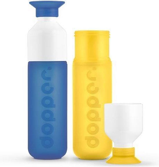 Dopper - duo set 2 kleuren - Pacific en Yellow