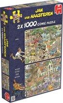 Jan van Haasteren Safari & Storm 2 in 1 - Puzzel 2 x 1000 Stukjes