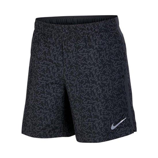 Nike Challenger Printed 7 inch hardloopshort heren zwart/antraciet
