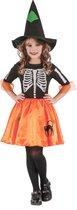 LUCIDA - Skelet heksenkostuum voor meisjes - XS 92/104 (3-4 jaar)