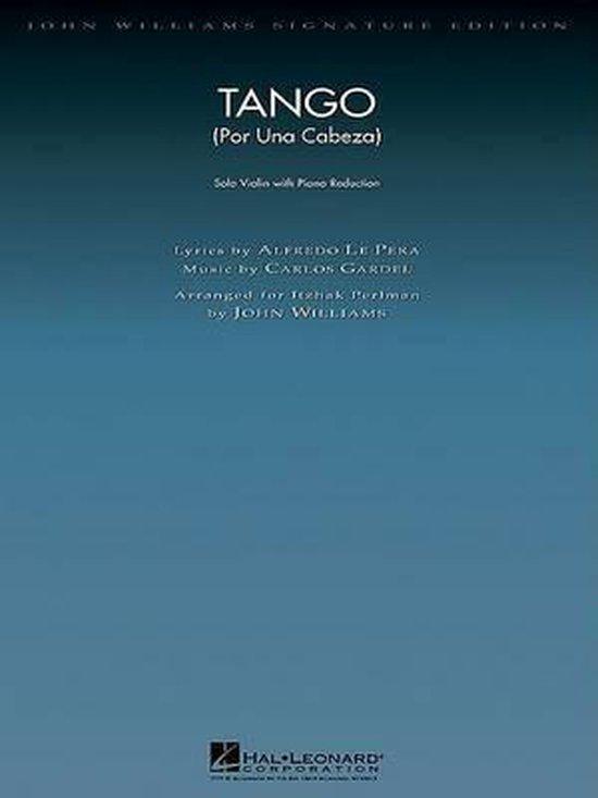 Boek cover Tango (Por Una Cabeza) (violin/piano) van  (Onbekend)