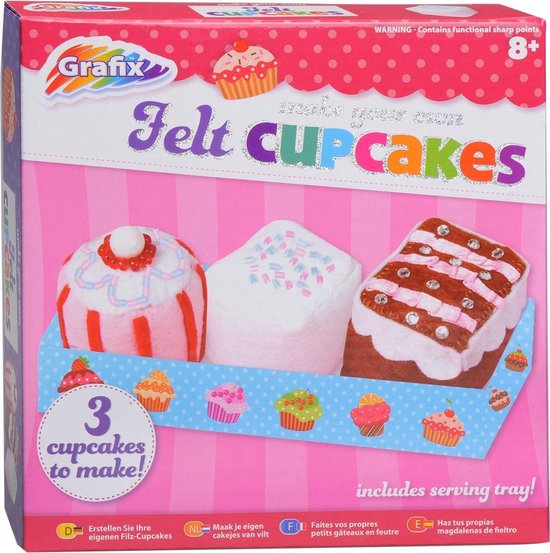 Make your own Cupcakes of felt