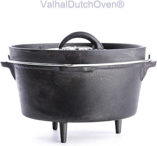 Valhal Outdoor Dutch oven met pootjes en deksel, 3L, Gietijzer