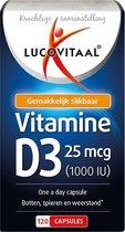Lucovitaal Vitamine D3 25 microgram Voedingssupplement - 120 Capsules