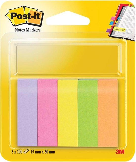 M Post-it index notes - 670/5 papier ultra - 5 kleuren