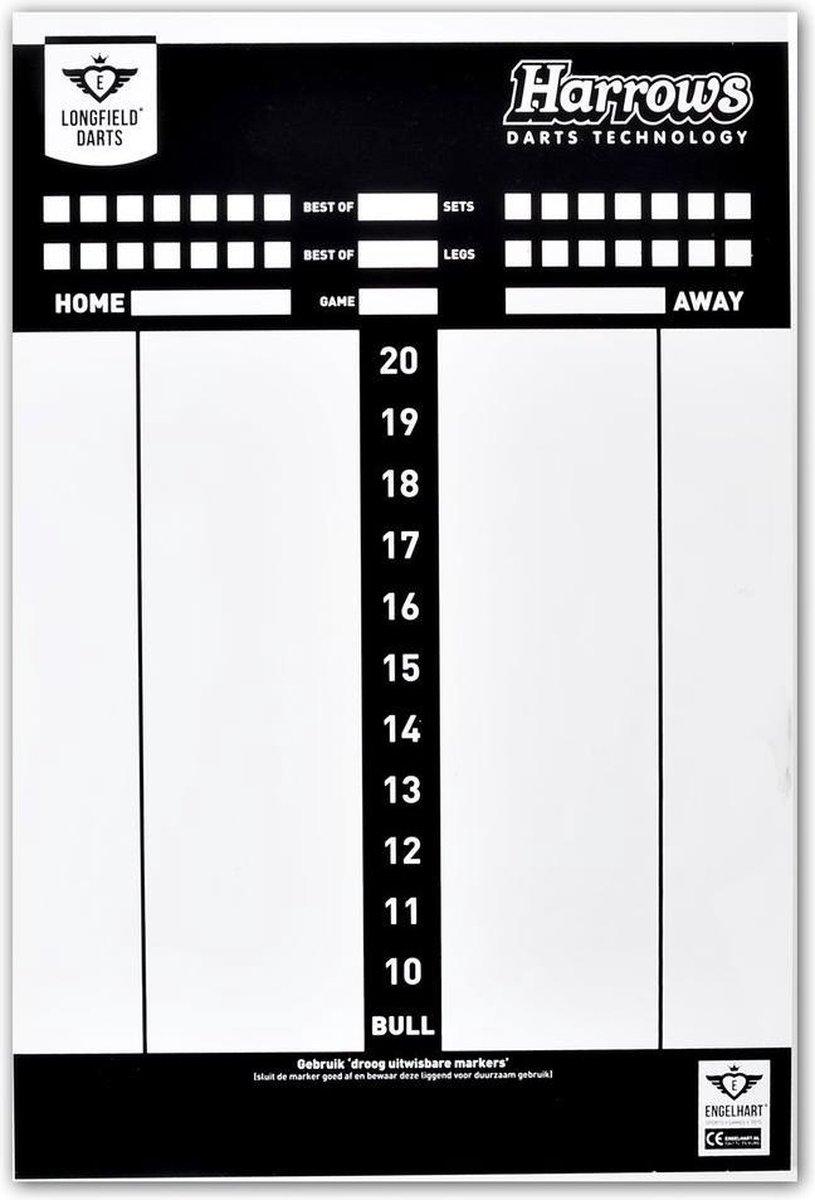Longfield Games Darts Scorebord Met Spelregels
