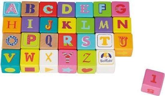 | Boikido' houten alfabet blokken bouwblokken