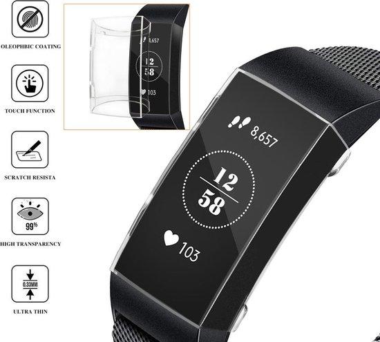 Full Cover Screen Protector Slim Case Hoes Voor Fitbit Charge 3 - Beschermkapje