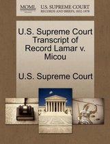 U.S. Supreme Court Transcript of Record Lamar V. Micou