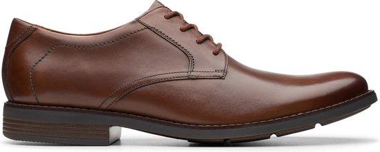 Clarks - Herenschoenen - Becken Lace - G - dak tan leather - maat 10,5