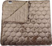 Unique Living Peggy - Bedsprei - Tweepersoons - 220x220 cm - Taupe